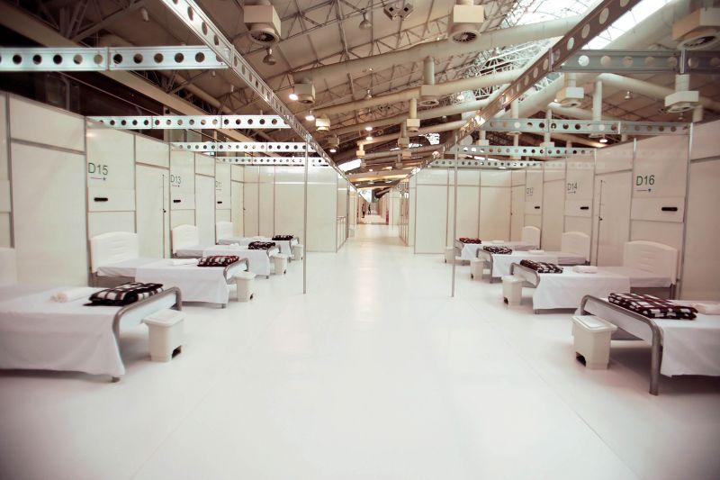 Hospital de campanha Hangar Centro de Convenções