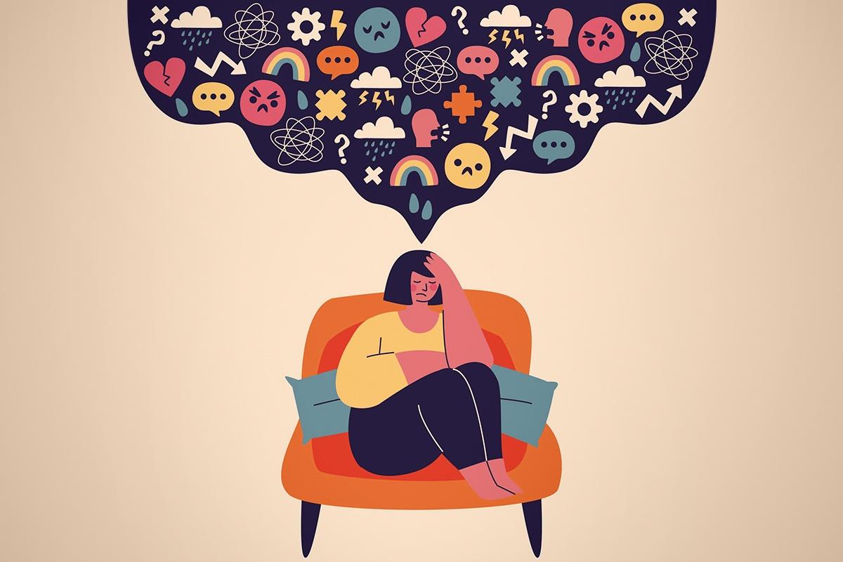 ilustração saúde mental